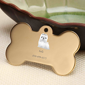 cheap Engraved Pet Tags-Personalized Customized Maltese Dog Tags Classic Gift Daily 1pcs Gold Silver Rose Gold