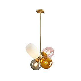 povoljno Viseća rasvjeta-4-Light Geometrijski Privjesak Svjetla Ambient Light Electroplated Metal 110-120V / 220-240V