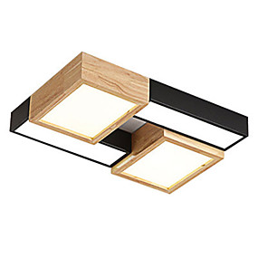 povoljno Lámpatestek-Geometrijski Flush Svjetla Ambient Light Drvo Wood / Bamboo Wood / Bamboo 110-120V / 220-240V Meleg fehér / Bijela