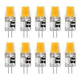 cheap LED Bi-pin Lights-10pcs 5 W LED Bi-pin Lights 300 lm G4 T 1 LED Beads COB Warm White White 12 V