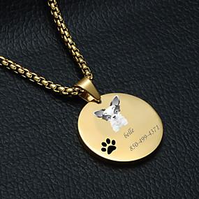 preiswerte Graviertes Haustierzubehör-Personalisiert Angepasst Corgi Haustier-Umbauten Klassisch Geschenk Alltag 1pcs Gold Silber