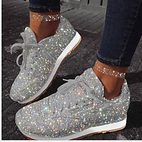 voordelige Damessneakers-Dames Sneakers Platte hak Ronde Teen PU Zomer Wit / Fuchsia / Blauw