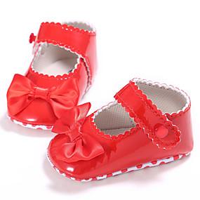 preiswerte Labor Day Sales-Mädchen Lauflern PU Flache Schuhe Kleinkinder (0-9 m) / Kleinkind (9m-4ys) Orange / Rot / Rosa Frühling / Sommer