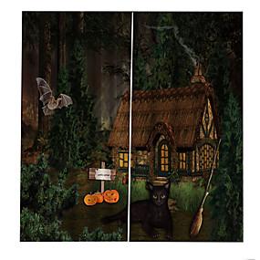 preiswerte Vorhänge und Gardinen-heißer außenhandel 3d druck hochwertige duschvorhänge verdickung blackout vorhang wald horror kabine wasserdicht anti-falten 100% polyester vorhang