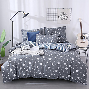 cheap Geometric Duvet Covers-Duvet Cover Geometric / Floral / Botanical Poly / Cotton Printed 1 PieceBedding Sets