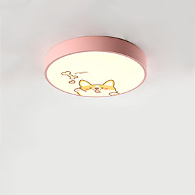 cheap Dimmable Ceiling Lights-1-Light LED® Geometrical Flush Mount Lights Downlight Painted Finishes Metal LED, Adorable 110-120V / 220-240V Warm White / Cold White