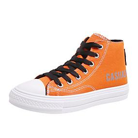voordelige Damessneakers-Dames Sneakers Creepers Ronde Teen Canvas Lente & Herfst Zwart / Wit / Oranje