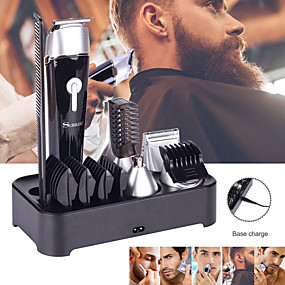 cheap Shaving & Grooming-5 In 1 Multifunctional Electric Hair Clipper Beard Trimmer Rechargeable Epilator Waterproof Nose Hair Device