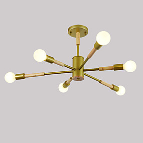 preiswerte Beleuchtung-JSGYlights 6-Licht Linear Einbauleuchten Raumbeleuchtung Lackierte Oberflächen Holz Metall Neues Design 110-120V / 220-240V