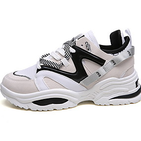voordelige Damessneakers-Unisex Sneakers Platte hak Ronde Teen Netstof Zomer Zwart / Wit / Regenboog