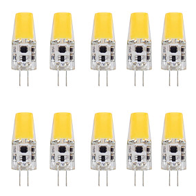 cheap LED Bi-pin Lights-10pcs 4 W LED Bi-pin Lights 400 lm G4 T 1 LED Beads COB Warm White White 12 V