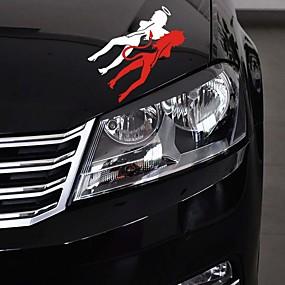 billige Tilbehør til eksteriør-14 * 8cm vanntett angel Satan Cars klistremerker bil styling dekal