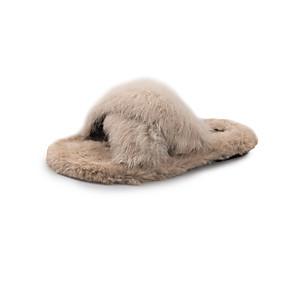 voordelige Damesschoenen met platte hak-Dames Platte schoenen Platte hak Ronde Teen Polyester Informeel Lente / Herfst winter Zwart / Blauw / Beige