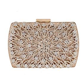 preiswerte Taschen-Damen Kristall Verzierung Polyester Unterarmtasche Geometrische Muster Schwarz / Gold / Silber