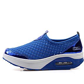 voordelige Damesschoenen met platte hak-Dames Platte schoenen Platte hak Ronde Teen Netstof Zomer Zwart / Marine Blauw / Roze
