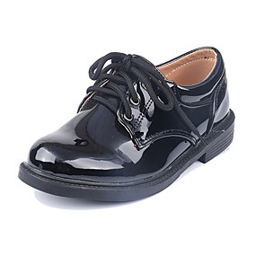 cheap Kids' Oxfords-Boys' / Girls' Flower Girl Shoes Patent Leather Oxfords Little Kids(4-7ys) White / Black Fall