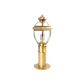 preiswerte Außenwandlichter-wasserdichtes rasenlicht coloum lampe antikes aluminium säulenlicht laterne für garten hof glas lampenschirm außenwandleuchten