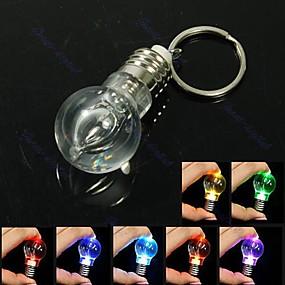 preiswerte Ungewöhnliche Lampen und Lichter-kreatives Geschenk Licht Beleuchtung Lampe Nacht bunt LED Taschenlampe Taschenlampe Schlüsselbund Schlüsselbund
