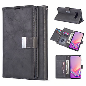 cheap Cellphone Case-Leather Magnetic Flip Wallet Phone Case for Samsung Galaxy S10 Plus S10e S10 S9 Plus S9 S8 Plus S8 S7 Edge S7 Card Slot Holder Stand Case for Galaxy Note 10 Plus Note 10 Note 9 Note 8 Cover