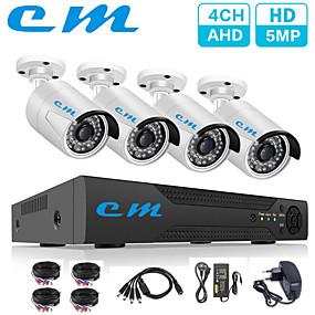 preiswerte DVR Set-4ch ahd 500 millionen hd monitor set 5mp kamera h.265 dvr garage warehouse monitor