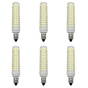 billige Kornpærer med LED-6pcs 15 W LED-kornpærer 1500 lm E14 E12 E11 T 136 LED perler SMD 2835 Nytt Design Varm hvit Hvit 220-240 V 110-120 V