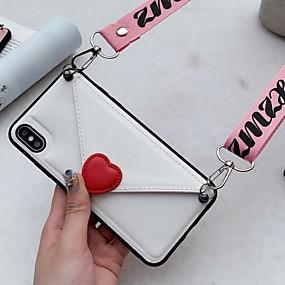 cheap Phones & Accessories-Case For Huawei Huawei P30 / Huawei P30 Pro / Huawei P30 Lite Wallet / Card Holder Back Cover Heart TPU