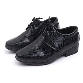 ราคาถูก Kids' Oxfords-เด็กผู้ชาย ความสะดวกสบาย PU รองเท้า Oxfords เด็กน้อย (4-7ys) ขาว / สีดำ / กาแฟ ฤดูร้อน