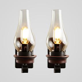 cheap Indoor Lighting-Creative Rustic Lodge Vintage Wall Lamps & Sconces Bedroom Indoor Metal Wall Light 110-120V 220-240V 60 W