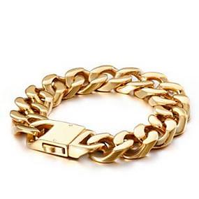 preiswerte Herrenschmuck Heiße Verkäufe-Herrn Damen Ketten- & Glieder-Armbänder Box-Kette Luxus Klassisch Dubai HipHop vergoldet Armband Schmuck Gold Für Hochzeit Alltag