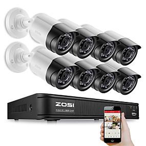 preiswerte DVR Set-zosi 8ch 1080p Sicherheit Video DVR Kit 2MP Kamera CCTV-Überwachungssystem Nachtsicht wasserdichte Festplatte 2 TB Bewegungserkennung Fernzugriff tvi cvi ahd analog