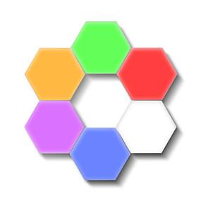 billige Smarte nyhetslys-6stk kvantum lys berøringssensor nattlys ledet sekskant lys magnetisk modulær berøringsvegglampe kreativ hjem dekor farge nattlampe