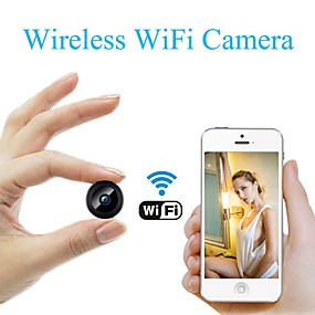 cheap Micro Cameras-A9 IP Camera Full HD 1080P WiFi Security Camera Night Vision Wireless 80 Degrees Wide Angle Outdoor Mini Camera Home Security Surveillance Micro Small Camera Remote Monitor Phone OS Android App