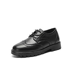 ราคาถูก Kids' Oxfords-เด็กผู้ชาย ความสะดวกสบาย PU รองเท้า Oxfords เด็กน้อย (4-7ys) สีดำ ฤดูร้อน
