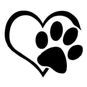 billige Tilbehør til eksteriør-søt hunde tass med fersken hjerte bil klistremerke tegneserie dyr bil dekaler
