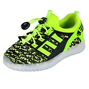 preiswerte Jungenschuhe-Jungen Leuchtende LED-Schuhe PU Sneakers Große Kinder (ab 7 Jahren) Paillette / LED Fuchsia / Grün / Blau Herbst / Winter / Gummi
