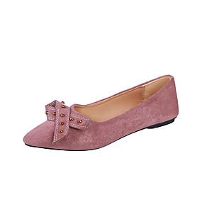 voordelige Damesinstappers & loafers-Dames Loafers & Slip-Ons Lage hak Gepuntte Teen Microvezel minimalisme Lente & Herfst Zwart / Roze