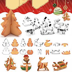 preiswerte Partydekoration-weihnachtsfeier 3d ausstecher schneemann weihnachtsbaum plätzchen form keks fondantschneider kuchen dekoration werkzeuge