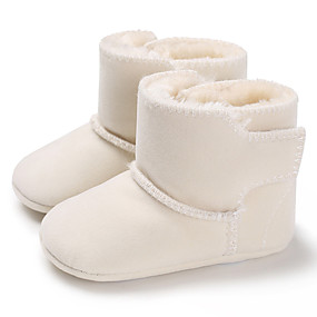 preiswerte LED Schuhe-Jungen / Mädchen Lauflern Baumwolle Stiefel Kleinkinder (0-9 m) / Kleinkind (9m-4ys) Rot / Blau / Rosa Winter / Gummi