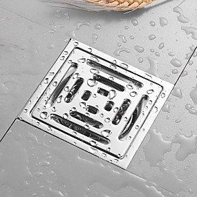 preiswerte Bodenabfluss-Toilette Bodenablauf Edelstahl Quadrat Bad Dusche Abtropffläche Sieb lineare Abdeckungen Waschbecken Bodenablauf