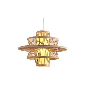 povoljno Viseća rasvjeta-privjesak za zemlju svjetlo od bambusa pleteno svjetlo blagovaonica rasvjeta okrugla restoran ovjes svjetla lampica privjesak svjetlost ambijentalno svjetlo