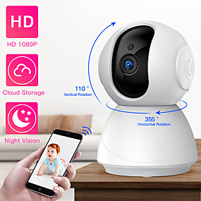 cheap Indoor IP Network Cameras-SDETER HD 1080P PTZ Wireless Security Camera WiFi Pan Tilt Cloud Storage Two Way Audio IP Camera CCTV Camera Surveillance Night Vision Baby Monitor Pet Camera P2P Cam