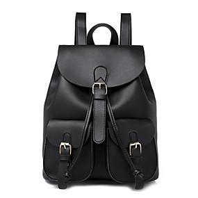ราคาถูก Bags-Large Capacity PU ซิป กระเป๋าเป้สะพายหลัง สีทึบ ทุกวัน สีดำ / สีน้ำตาล / ไวน์ / ฤดูใบไม้ร่วง & ฤดูหนาว