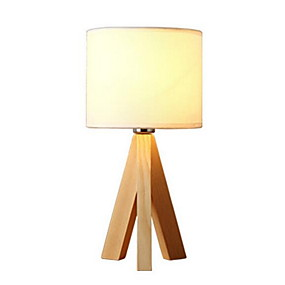 Lamps & Lamp Shades-Table Lamp Modern Contemporary For Bedroom Study Room Office Wood Bamboo 220V