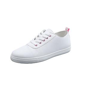 voordelige Damessneakers-Dames Sneakers Platte hak Ronde Teen PU Lente zomer / Herfst winter Zwart / Roze