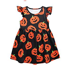 preiswerte Baby & Kinder-Baby Mädchen Geometrisch Kleid Schwarz