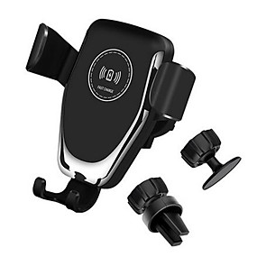 billige Bil-lader-10w qi bil trådløs lader hurtiglading smart telefon holder montering for iphone 8 8 pluss xs samsung s8 s9 s10