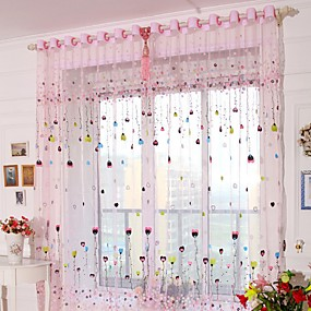 cheap Curtains & Drapes-Sheer One Panel Sheer Living Room   Curtains