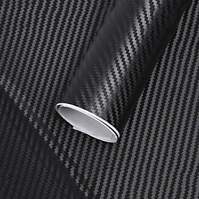 cheap Car Stickers-127x30cm 3D carbon fiber vinyl reel film roll car sticker interior decoration car stickers new