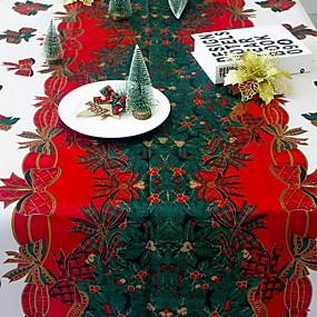 preiswerte Partydekoration-Freizeit Polyesterfaser Quadratisch Tischdecken Geometrisch Weihnachten Tischdekorationen