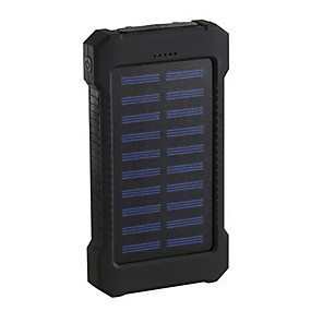 cheap Power Banks-2019 Solar Power Bank 10000mAh Double USB Solar Charger External Battery Portable Charger Bateria Externa Pack for Smart Phone